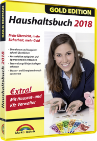 Haushaltsbuch 2018 - Gold Edition, Best.Nr. MT-80516, € 11,95