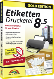 Etiketten Druckerei 8.5 - Gold Edition, EAN: 4251357805237, Best.Nr. MT-80523, erschienen 11/2017, € 13,99