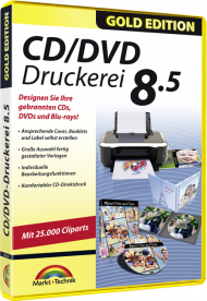 CD/DVD Druckerei 8.5 - Gold Edition, Best.Nr. MT-80524, € 13,95