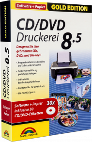 CD/DVD-Druckerei 8.5 mit Papier - Gold Edition, EAN: 4251357805398, Best.Nr. MT-80539, erschienen 11/2017, € 17,95