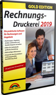 Rechnungs-Druckerei 2019 - Gold Edition, EAN: 4251357806104, Best.Nr. MT-80610, erschienen , € 17,95
