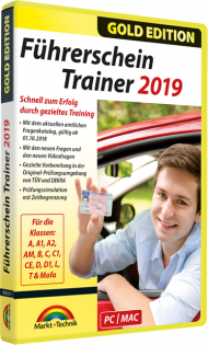 Führerschein Trainer 2019 - Gold Edition, EAN: 4251357806296, Best.Nr. MT-80629, erschienen 10/2018, € 18,95