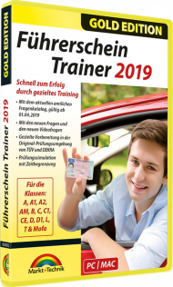 Führerschein Trainer 2019 - Gold Edition, EAN: 4251357806821, Best.Nr. MT-80682, erschienen 03/2019, € 18,95