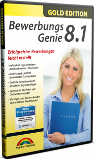 Bewerbungs Genie 8.1 - Gold Edition, EAN: 4251357806869, Best.Nr. MT-80686, erschienen 05/2019, € 12,95