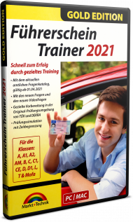 Führerschein Trainer 2021 - Gold Edition, EAN: 4251357809730, Best.Nr. MT-80973, erschienen 03/2021, € 17,99