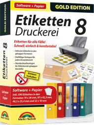 Etiketten-Druckerei 8 mit Papier - Gold Edition, Best.Nr. MT-82706, € 18,95