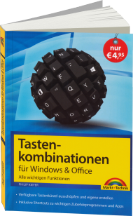 Tastenkombinationen für Windows & Office, ISBN: 978-3-945384-03-9, Best.Nr. MT-84039, erschienen 07/2014, € 4,95