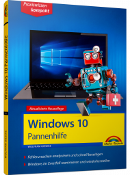 Windows 10 Pannenhilfe - Praxiswissen kompakt  eBook, Best.Nr. MTE-2133, erschienen 07/2018, € 7,99