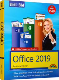 Office 2019 Bild für Bild  eBook, Best.Nr. MTE-2172, erschienen 01/2019, € 9,99