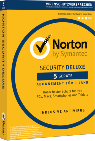 Norton Security Deluxe f�r 5 Ger�te, Best.Nr. NTB205, € 42,95