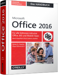 Microsoft Office 2016 - Das Handbuch, Best.Nr. OR-010, € 39,90