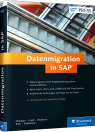 Datenmigration in SAP, ISBN: 978-3-8362-3052-0, Best.Nr. RW-3052, erschienen 05/2015, € 79,90
