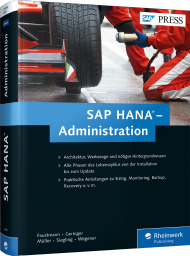 SAP HANA - Administration, ISBN: 978-3-8362-3641-6, Best.Nr. RW-3641, erschienen 06/2016, € 69,90