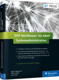 SAP NetWeaver AS ABAP - Systemadministration, ISBN: 978-3-8362-3707-9, Best.Nr. RW-3707, erschienen 11/2015, € 69,90