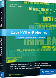 Excel-VBA-Referenz, ISBN: 978-3-8362-3835-9, Best.Nr. RW-3835, erschienen 09/2015, € 19,90