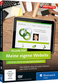 Meine eigene Website (Videotraining), Best.Nr. RW-3845, € 35,95