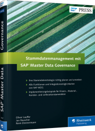 Stammdatenmanagement mit SAP Master Data Governance, ISBN: 978-3-8362-3887-8, Best.Nr. RW-3887, erschienen 07/2016, € 69,90