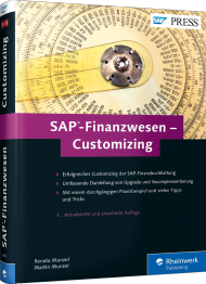 SAP-Finanzwesen - Customizing, ISBN: 978-3-8362-3970-7, Best.Nr. RW-3970, erschienen 04/2016, € 69,90