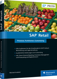 SAP Retail, ISBN: 978-3-8362-4072-7, Best.Nr. RW-4072, erschienen 05/2017, € 79,90