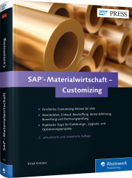 SAP-Materialwirtschaft - Customizing, ISBN: 978-3-8362-4184-7, Best.Nr. RW-4184, erschienen 10/2016, € 69,90