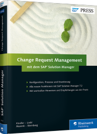 Change Request Management mit dem SAP Solution Manager, ISBN: 978-3-8362-4191-5, Best.Nr. RW-4191, erschienen 05/2017, € 69,90