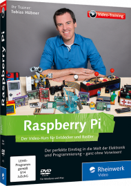 Raspberry Pi (Videotraining), ISBN: 978-3-8362-4375-9, Best.Nr. RW-4375, erschienen 10/2016, € 35,95
