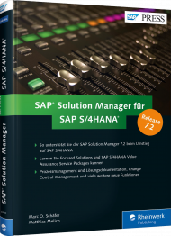 SAP Solution Manager für SAP S/4HANA, ISBN: 978-3-8362-4389-6, Best.Nr. RW-4389, erschienen 10/2016, € 69,90