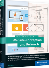 Website-Konzeption und Relaunch, ISBN: 978-3-8362-4557-9, Best.Nr. RW-4557, erschienen 01/2018, € 39,90