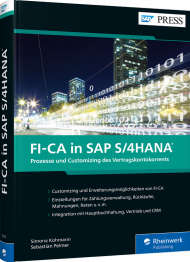 FI-CA in SAP S/4HANA, ISBN: 978-3-8362-6222-4, Best.Nr. RW-6222, erschienen 05/2019, € 79,90