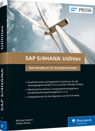 SAP S/4HANA Utilities, ISBN: 978-3-8362-6264-4, Best.Nr. RW-6264, erschienen 08/2018, € 89,90