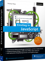 Einstieg in JavaScript, ISBN: 978-3-8362-6370-2, Best.Nr. RW-6370, erschienen 06/2018, € 29,90