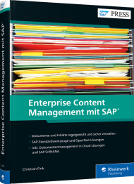 Enterprise Content Management mit SAP, ISBN: 978-3-8362-6524-9, Best.Nr. RW-6524, erschienen 07/2019, € 79,90