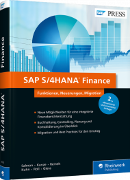 SAP S/4HANA Finance, ISBN: 978-3-8362-6533-1, Best.Nr. RW-6533, erschienen 12/2018, € 79,90