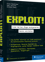 Exploit!, ISBN: 978-3-8362-6598-0, Best.Nr. RW-6598, erschienen 08/2019, € 44,90