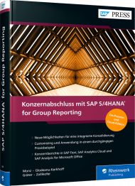 Konzernabschluss mit SAP S/4HANA for Group Reporting, ISBN: 978-3-8362-6887-5, Best.Nr. RW-6887, erschienen 02/2021, € 119,90