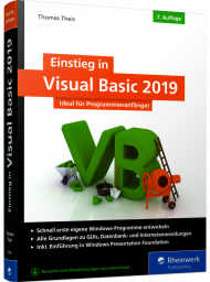 Einstieg in Visual Basic 2019, ISBN: 978-3-8362-7115-8, Best.Nr. RW-7115, erschienen 05/2019, € 34,90