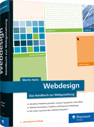 Webdesign, ISBN: 978-3-8362-7216-2, Best.Nr. RW-7216, erschienen 01/2020, € 49,90