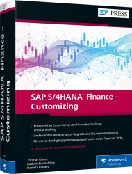 SAP S/4HANA Finance - Customizing, ISBN: 978-3-8362-7459-3, Best.Nr. RW-7459, erschienen 05/2020, € 89,90