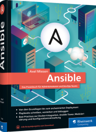 Ansible, ISBN: 978-3-8362-7660-3, Best.Nr. RW-7660, erschienen 10/2020, € 39,90