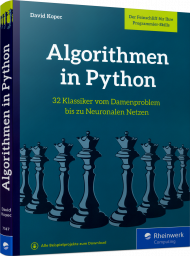 Algorithmen in Python, ISBN: 978-3-8362-7747-1, Best.Nr. RW-7747, erschienen 07/2020, € 29,90