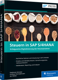 Steuern in SAP S/4HANA, ISBN: 978-3-8362-7931-4, Best.Nr. RW-7931, € 89,90