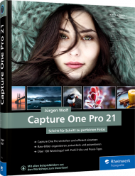 Capture One Pro 21, ISBN: 978-3-8362-8362-5, Best.Nr. RW-8362, erschienen 02/2021, € 49,90