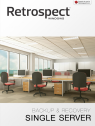 Retrospect 10 Win Single Server (DtD), 5 Cl. Upgrade (Download), Best.Nr. SO-2623, € 239,00