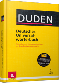DUDEN - Deutsches Universalw�rterbuch, Best.Nr. SO-2627, € 44,99