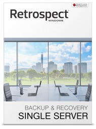 Retrospect 11 Win Single Server (DtD), 5 Clients (Download), Best.Nr. SO-2681, € 349,00