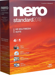Nero Standard 2018 Suite, EAN: 4052272002080, Best.Nr. SO-2730, erschienen 11/2017, € 54,95