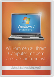 Windows 7 Professional - 64 Bit SP1 SB, EAN: 0885370258851, Best.Nr. SO-3010, erschienen 10/2009, € 159,95