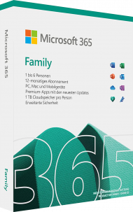 Microsoft Office 365 Home - Key Card, EAN: 0889842085372, Best.Nr. SO-3113, erschienen 10/2018, € 74,95