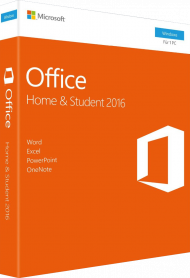 MS Office Home and Student 2016 für Windows - Key Card, EAN: 0885370988949, Best.Nr. SO-3167, erschienen 09/2015, € 129,95
