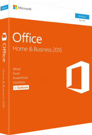 MS Office Home and Business 2016 für Windows - Key Card, EAN: 0885370986990, Best.Nr. SO-3168, erschienen 09/2015, € 224,95